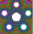 Five part pentagonal infographic template vector image vector image