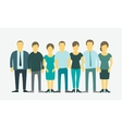 flat set Business group company staff vector image vector image