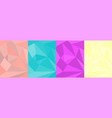 four polygon background color ipad vector image vector image