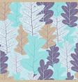 green oak leaves pattern vector image vector image