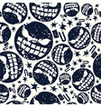 Halloween bomb seamless pattern vector image