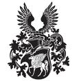 heraldic silhouette No39 vector image