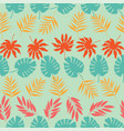 horizontal rows tropical leaves seamless vector image vector image