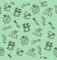 hunting concept icons pattern vector image vector image