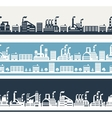Industrial factory buildings horizontal banners vector image vector image