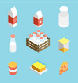 isometric milk icon vector image vector image