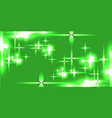 light green shining background with light stars vector image vector image