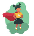 little girl in a superhero costume vector image