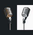 live on stage open microphone drawing transparent vector image vector image