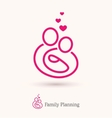Logo of happy family with a baby vector image