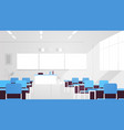 modern classroom interior empty no people school vector image vector image