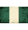 Nigerian flag Grunge background vector image vector image