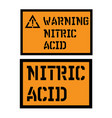 nitric acid sign vector image