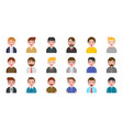 office business male people avatar character in vector image vector image