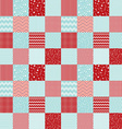 Pattern in patchwork style Merry Christmas vector image
