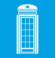 phone booth icon white vector image vector image