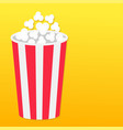 popcorn round box left side template movie cinema vector image vector image
