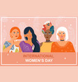 poster for international woman s day card vector image vector image