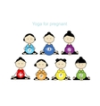 Pregnant yoga women group for your design vector image vector image