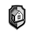 Property protection idea stylized heraldic symbol vector image