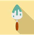 reconstruction trowel icon flat style vector image vector image