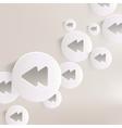 Reverse or rewind web icon vector image vector image