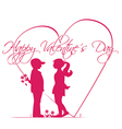 romantic story valentines day vector image vector image