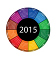 round calendar for 2015 year vector image