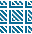seamless geometric pattern with blue white vector image