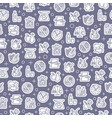 seamless pattern with healthy diet icons vector image vector image