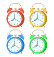 set alarm clock vector image