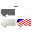 Siskiyou County California outline map set vector image vector image