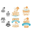Summer vacation labels and banners vector image vector image