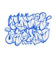 underground graffiti lettering vector image vector image