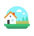 Village home on nature vector image vector image