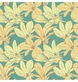 Vintage magnolia flowers seamless pattern vector image vector image
