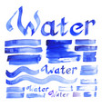 water decorative elements collection vector image vector image