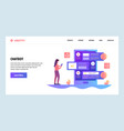 web site design template ai online chat vector image