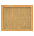 Wooden Frame with Sackcloth vector image vector image