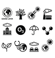 World ozone day ecology climate change icons vector image vector image