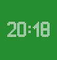 2018 new year vector image
