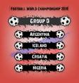 football championship 2018 group d vector image
