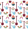 Pattern with Gardening Equipment vector image
