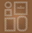 a collection template frames for laser cutting vector image