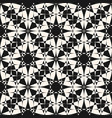 abstract mosaic seamless monochrome pattern vector image vector image