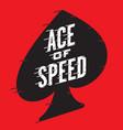 ace speed retro design vector image