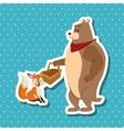 Animal cartoon design editable vector image