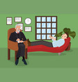 at reception psychologist simple flat vector image