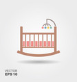 baby cradle bed icon vector image vector image