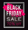 black friday sale poster with frame and vector image